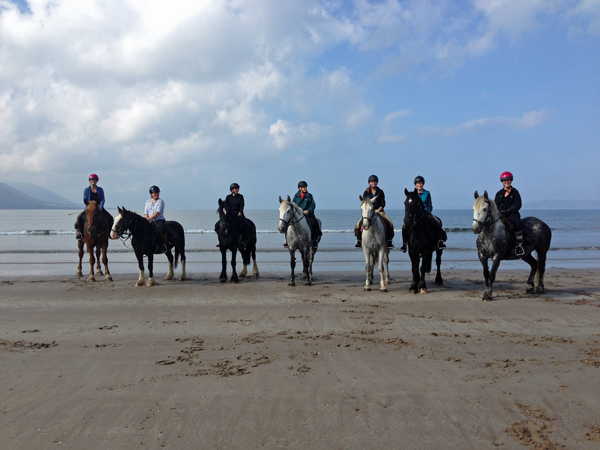 Horses and Riders Rossbeigh Beach Ireland