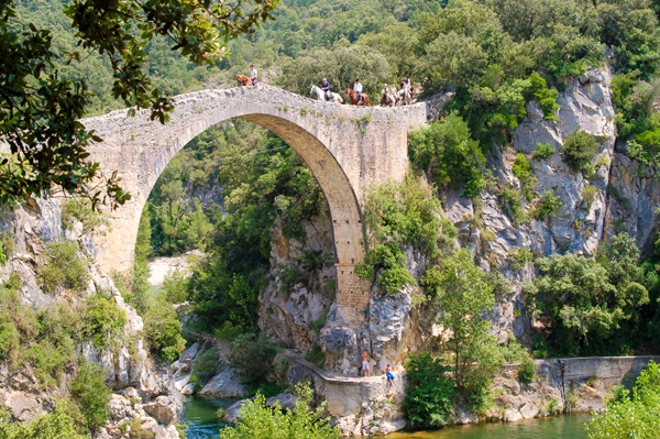 Catalonia Spain Horseback Riding Bridge