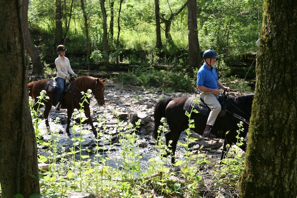 Shaker Village trail riding