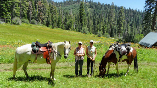 Sherry Antill & Ann Bates central sierras horseback riding california