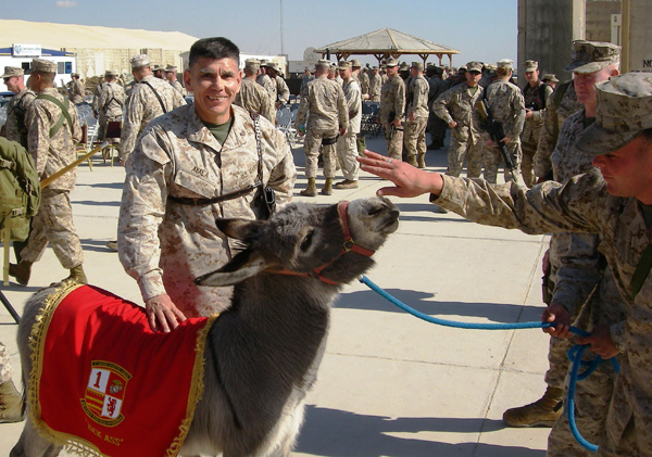 Smoke with Marines Iraq