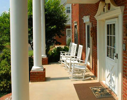 Southern Cross Guest Ranch front porch