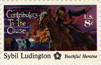 sybil ludington stamp horse stories history