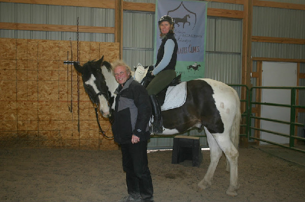 Heidi Longaberger and her horse Thomas with Ralf Schmitzer