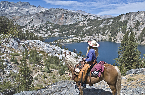 Thousand Lake California horseback pack trip