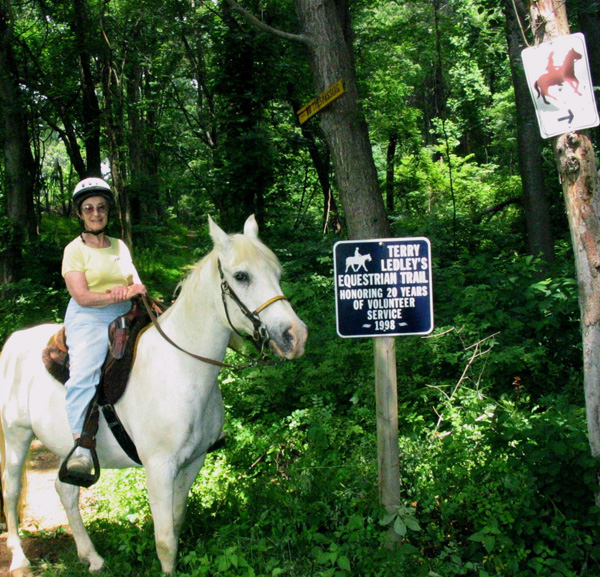 Rider at Terry Ledley Trail