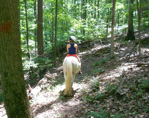 Trail Riding Rocky Gorge Trail in Maryland