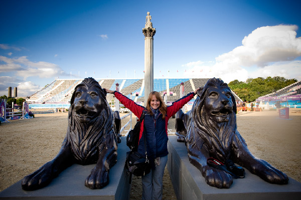 Rebecca Walton of Phelps Media Group at the 2012 Olympics in London