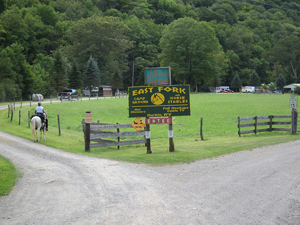 East Fork Campground WV horseback