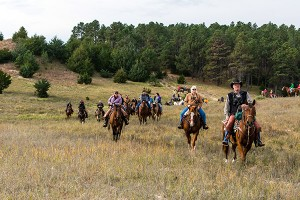 Horseback Riding in the Nebraska National Forest to Support 4-H