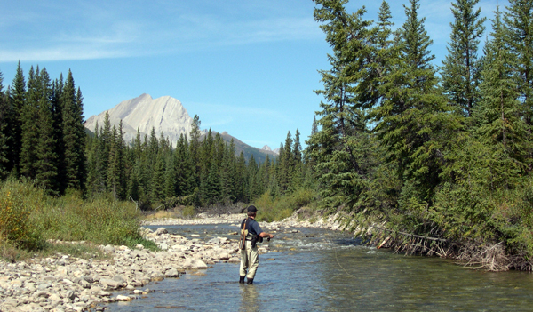 fly fishing A Lazy H Outfitters Montana
