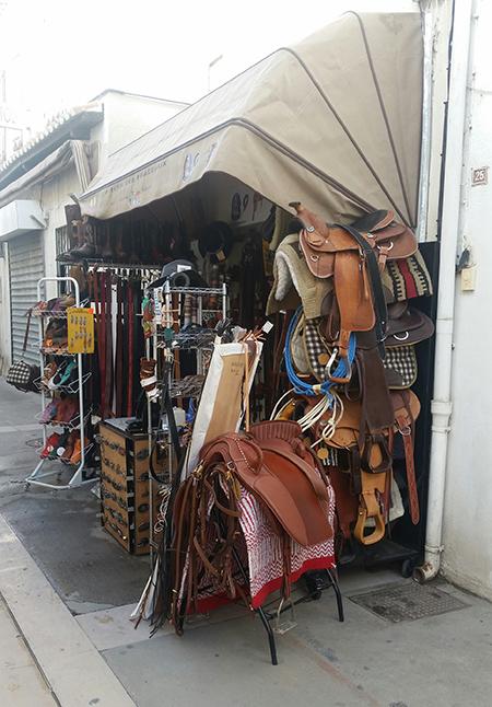 aladdins cave tack shop in camargue france