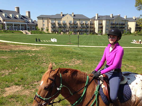 Alexis horseback riding Salamander Resort