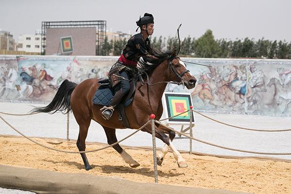 archer on horseback amman
