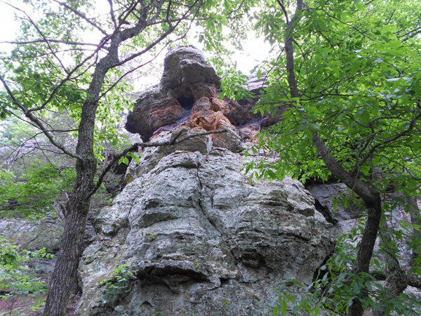 Pedestal Rock Arkansas trail ride