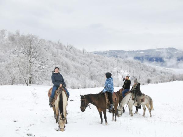 Armenia Snowy Horseback Ride