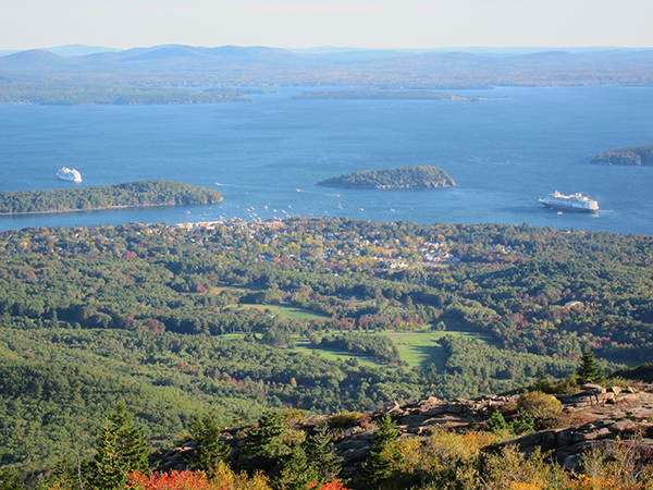 bar harbor aerial view