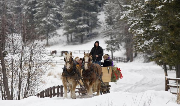 Bar W Guest Ranch sleigh ride