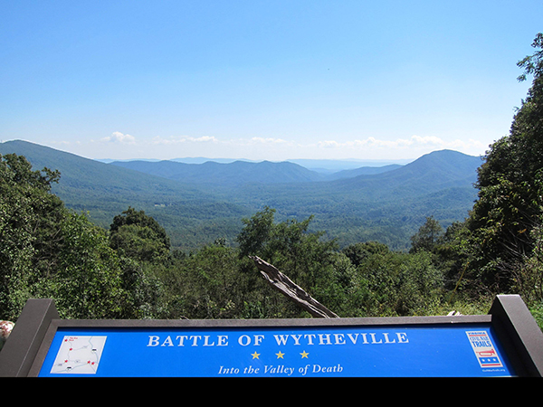 battle of wytheville mountain view