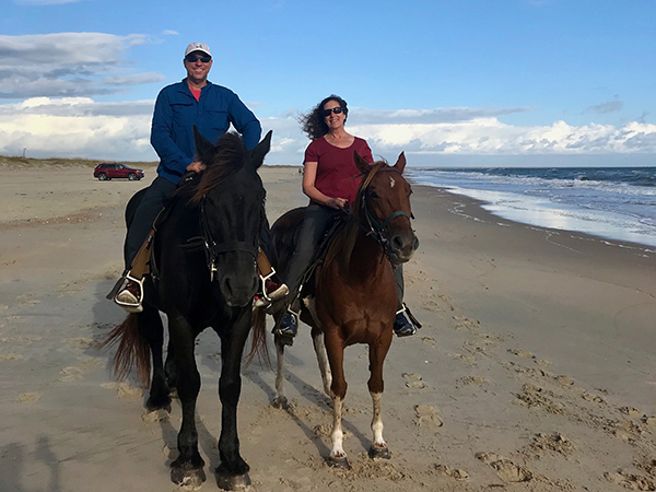 horseback riding beach North Carolina