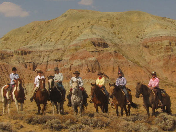 Blue Sky Sage Horseback Riding Girls Ride Out