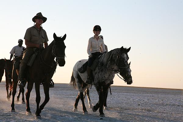Botswana moon horseback