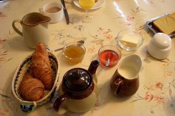 breakfast in Normandy