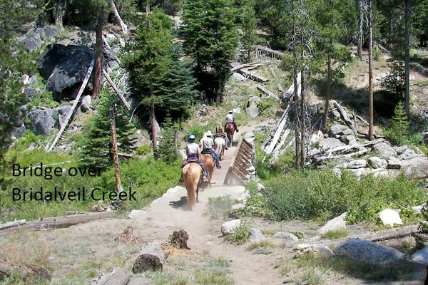 bridge over bridaveil creek yosemite horse riding