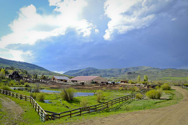 scenic overall of c lazy u ranch in granby colorado