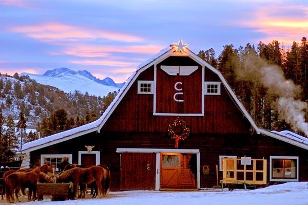 C Lazy U Ranch barn Colorado dude ranches
