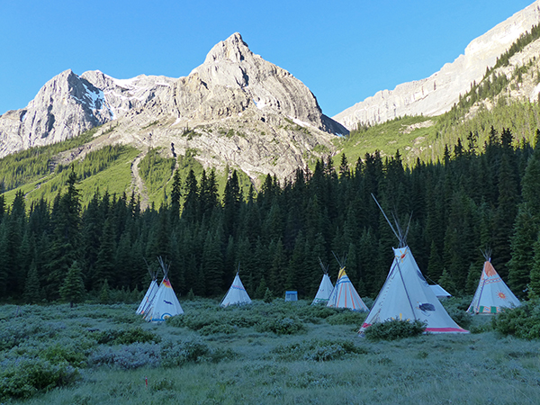 camp horseback teepee