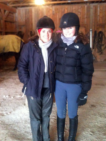 horse riding snow what to wear
