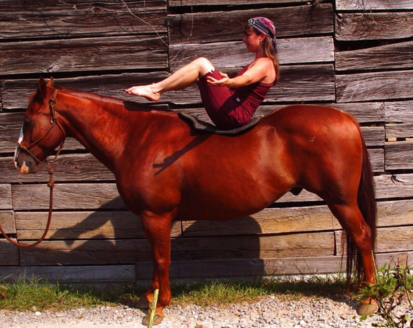 Yoga Poses on Horseback