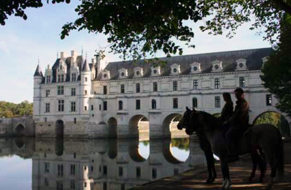 chateau castle france horse loire