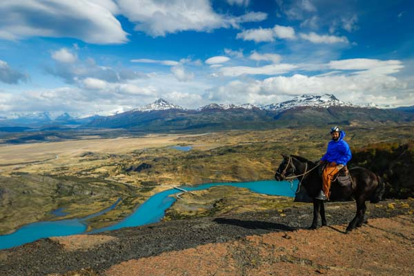 Horseback Riding Turquoise Lakes Patagonia