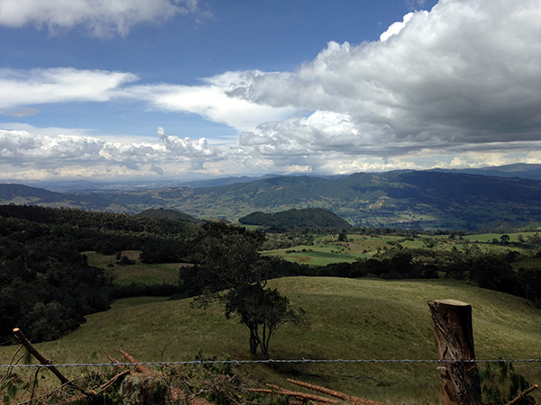 Colombia countryside views horseback