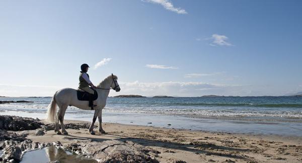 connemara beach horseback riding