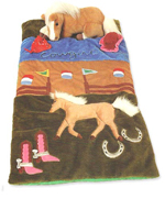 cowgirl horse sleeping bag