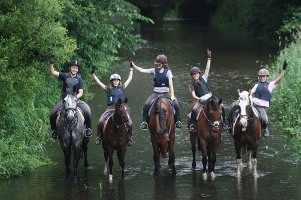 Crossogue Equestrian Centre Horseback Riders in River