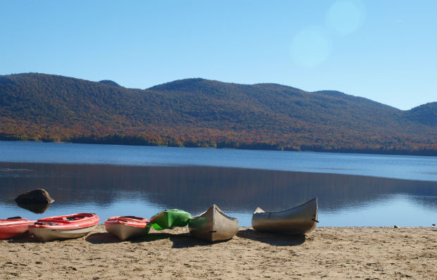 Kayaks in Autumn