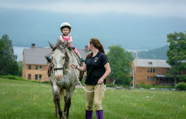Pony rides at Mountain Top Resort