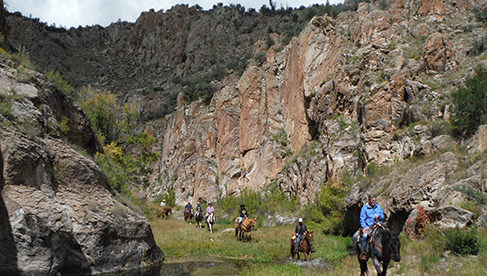 Taylor Creek Canyon at Geronimo Trail Guest Ranch, New Mexico.