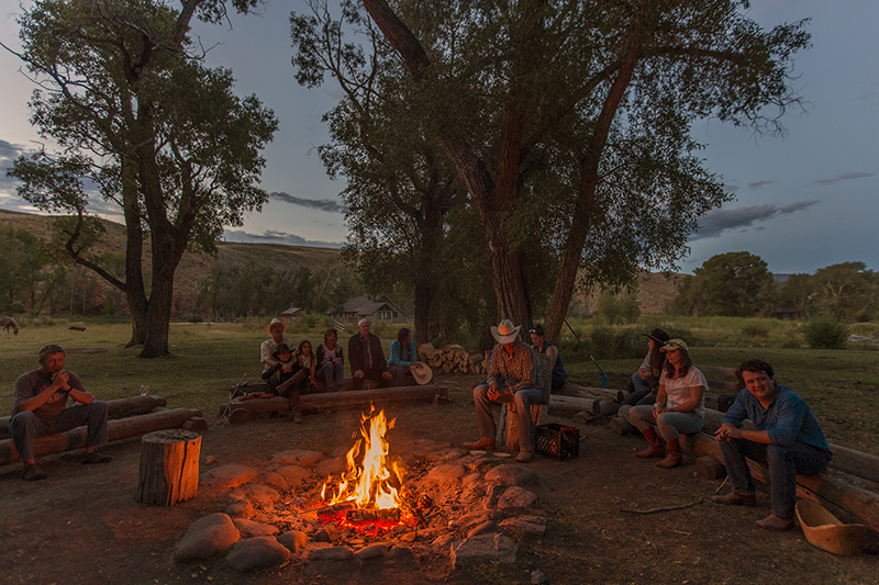 Lazy L & B Ranch Wyoming Campfire