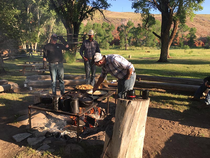 Lazy L & B Ranch Wyoming Cooking Outdoors