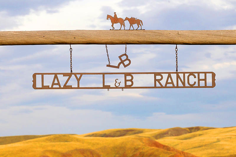 Lazy L & B Ranch Wyoming Entrence