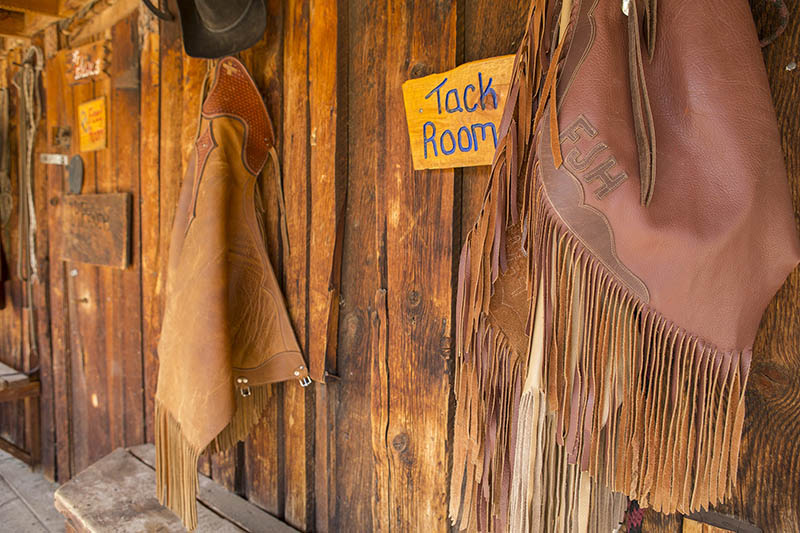 Lazy L & B Ranch Wyoming Tack Room