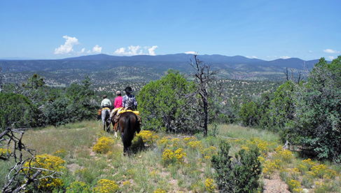 Arena Fun on horseback at Geronimo Trail Guest Ranch, New Mexico.