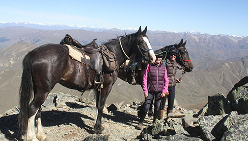 At 6000 feet elevation Prospectors Dream Trail New Zealand horse vacation