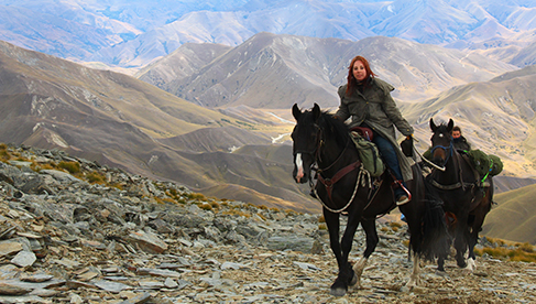 Following the gold miners trails with Adventure Horse Trekking New Zealand
