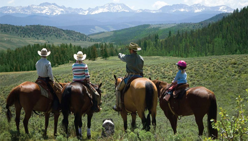 With over 20,000 acres of ride-able land, and spectacular views of the Continental Divide, ride possibilities are endless.